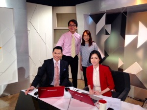 With the hosts of First Look Asia